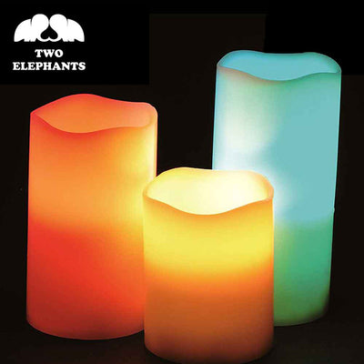 Two Elephants™ Controlled Flameless Color Changing Candles