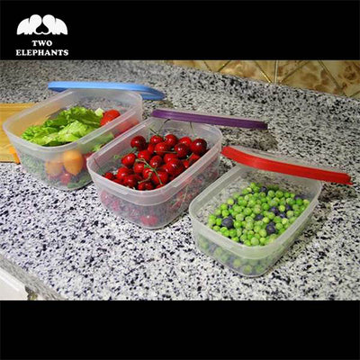 Two Elephants™ 6-Piece BPA Free Food Storage Container Set with Color Coded Lids
