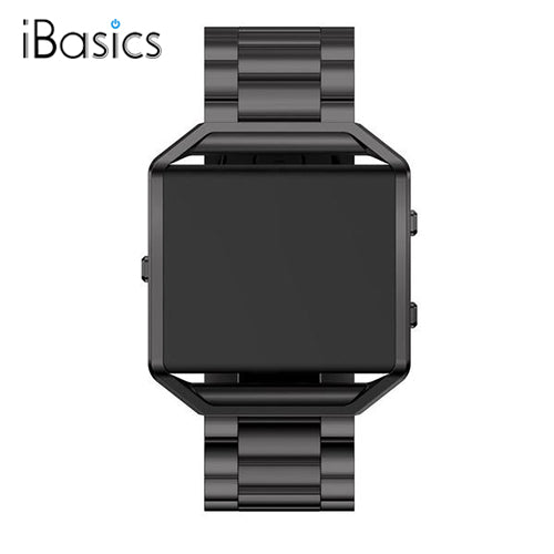 iBasics™ Stainless Steel Folding Clasp Watch band Strap Frame For Fitbit Blaze