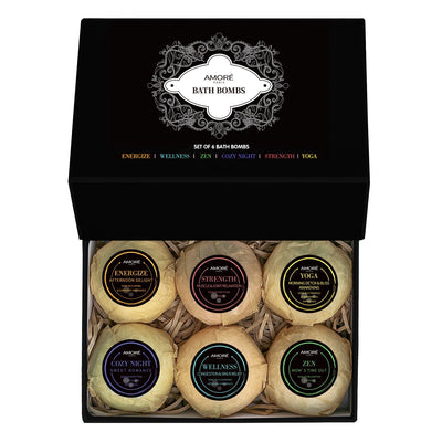 Amoré Fresh Handmade Bath Bombs (6-Piece Gift Set)
