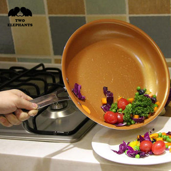 Two Elephants™ Nonstick Copper Frying Pan