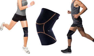 Extreme Fit™ Unisex Copper Compression Knee Sleeve with Zipper