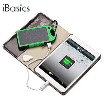 iBasics™  5,000 mAh Water-Resistant Solar Smartphone Charger