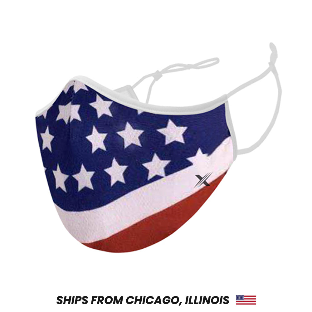 USA Flag Cloth Mask with Filter Pockets