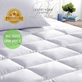 Luxury Home™ Super-Soft Hypoallergenic Mattress Topper