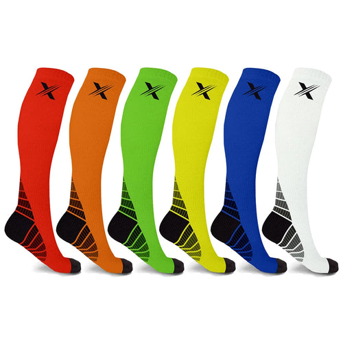 Extreme Fit™ 6-Pairs: Performance Support Compression Socks
