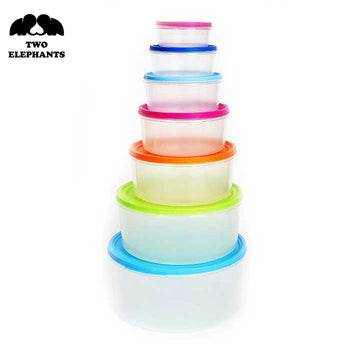 Two Elephants™ Multi-Color Food Storage Container Set – Circle