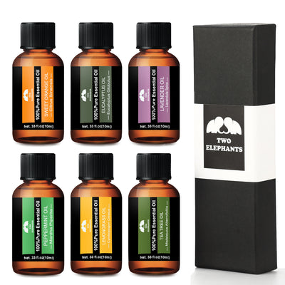 Aromatherapy Essential Oil Gift Set - Therapeutic Grade - 6 Oils in 1 Set