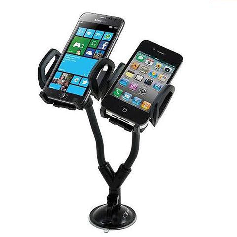 Heavy Duty Dual Car Mount with Flexible Gooseneck Holder
