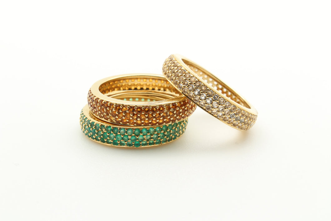 Stackable Pave Band Rings