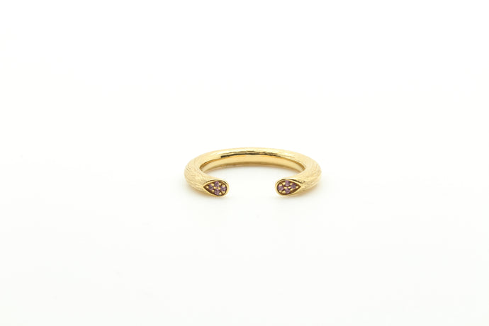 Peruvian Open Rose Stem Stackable Ring