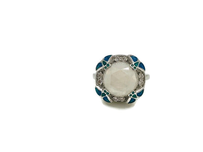 Superhero Moonstone Ring