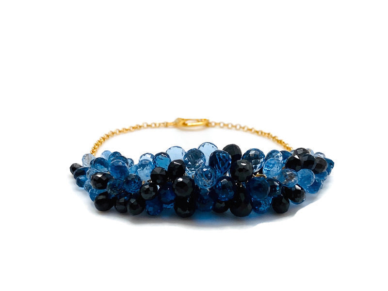 Blue & Black Rock Candy Bracelet