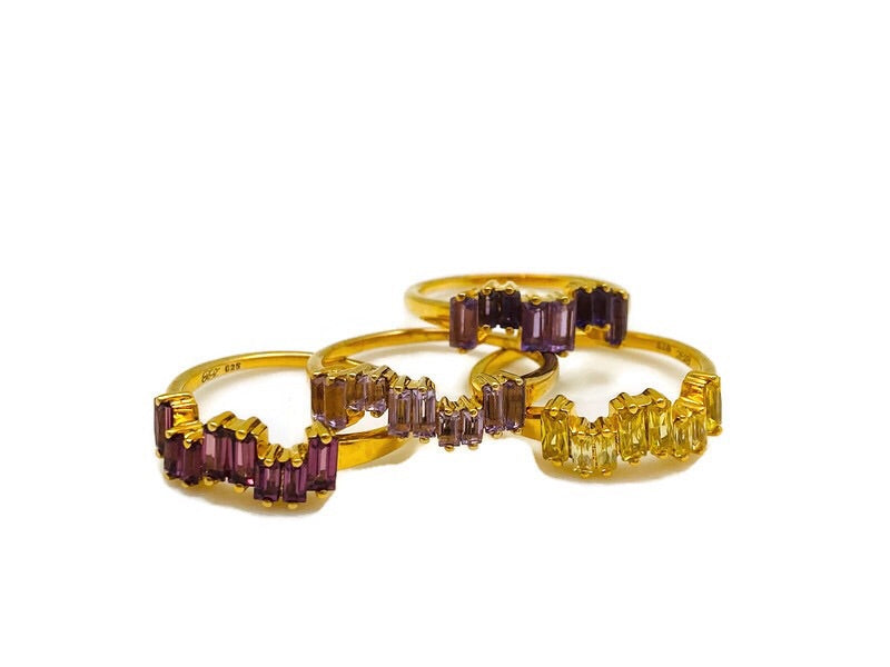 Gold Stackable Ice Rings