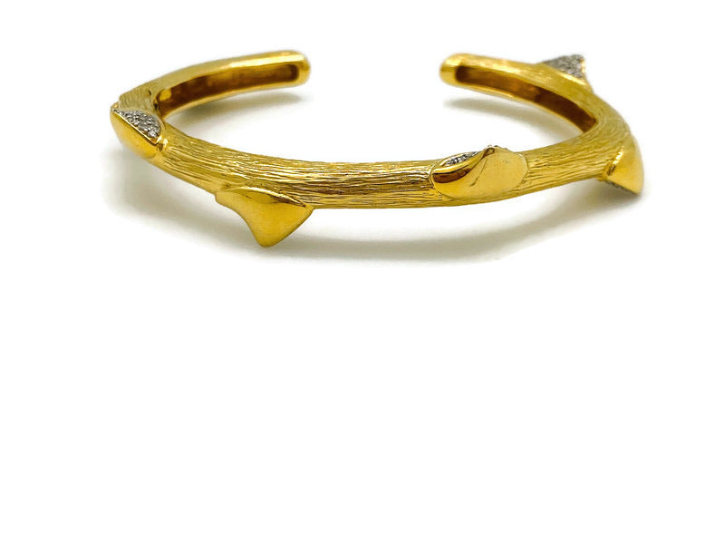 Thick Peruvian Rose Thorn Hinged Bracelet