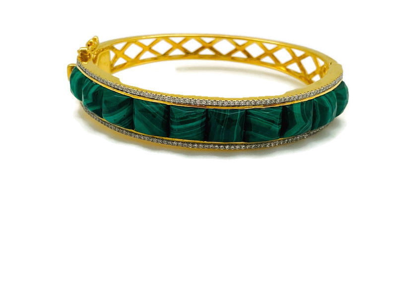 Malachite Checkerboard Bracelet