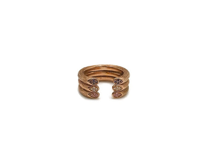 Rose Gold Stackable Stem Rings