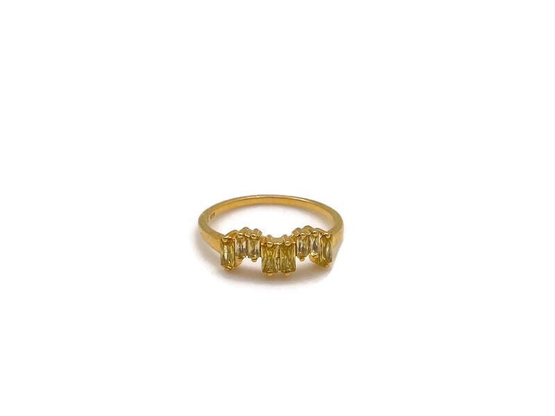 Gold Yellow Zircon Ice Ring