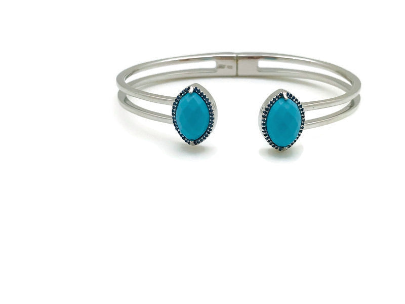 Rain Drop Hinged Bracelet