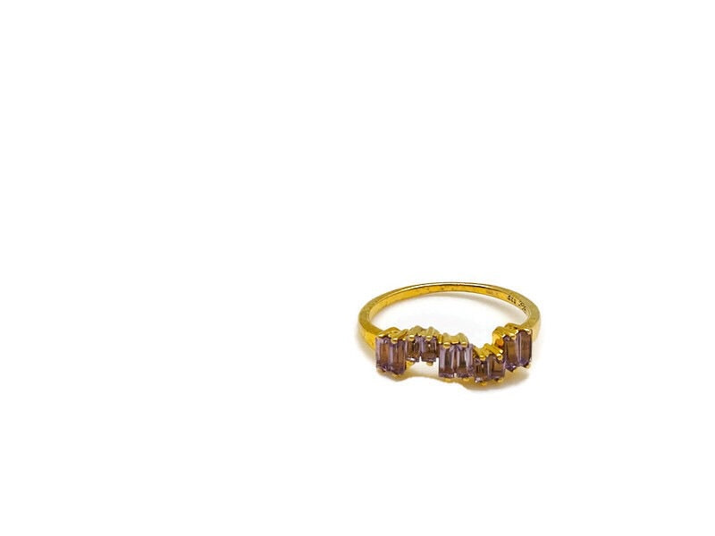 Gold Amethyst Ice Ring