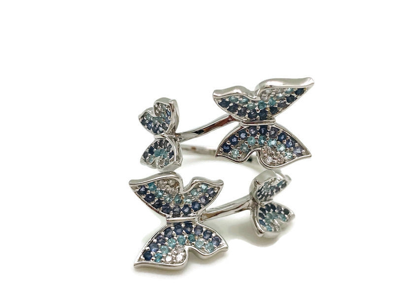 Multi Blue Butterfly Ring