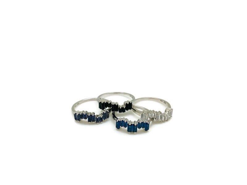 Stackable Silver Ice Rings