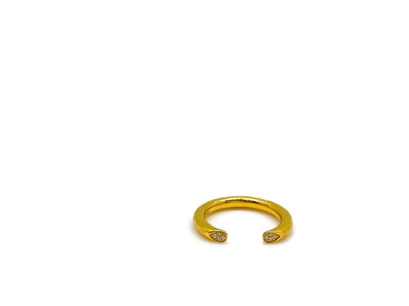 Gold Open Rose Stem Ring