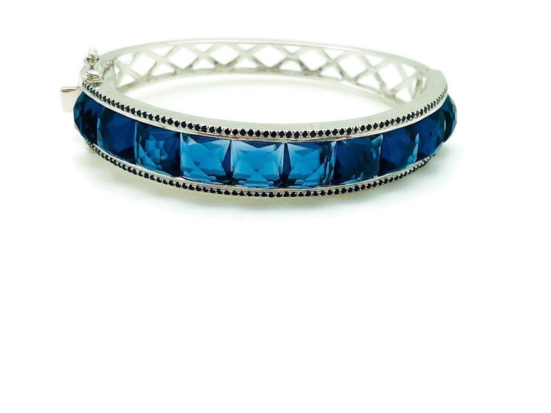 Blue Checkerboard Bracelet