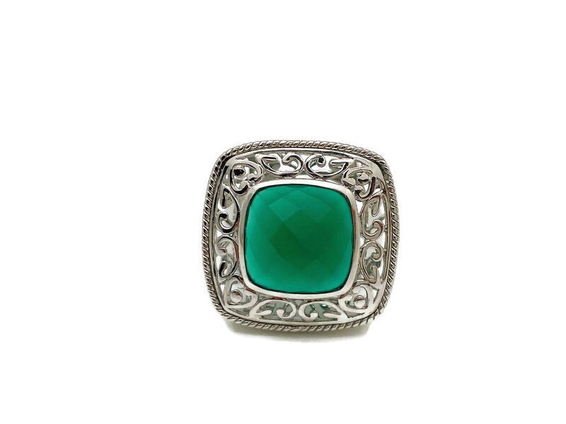 Dynasty Green Onyx Ring