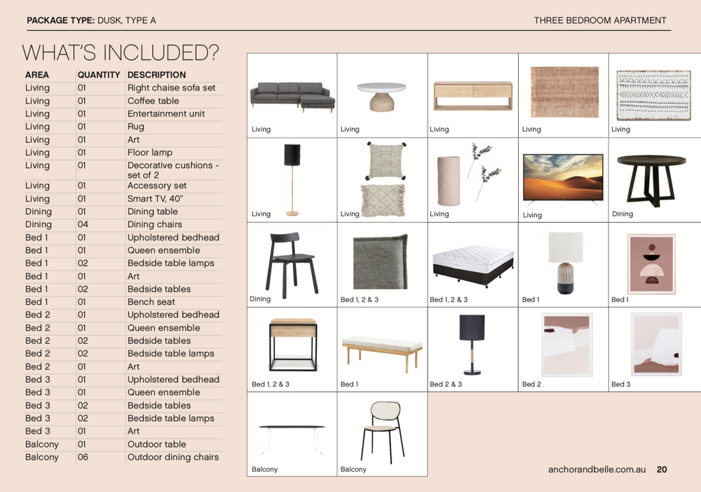 Dusk Furniture Package