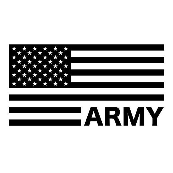 Army US Flag vinyl decal sticker for Car/Truck Window computer military stars