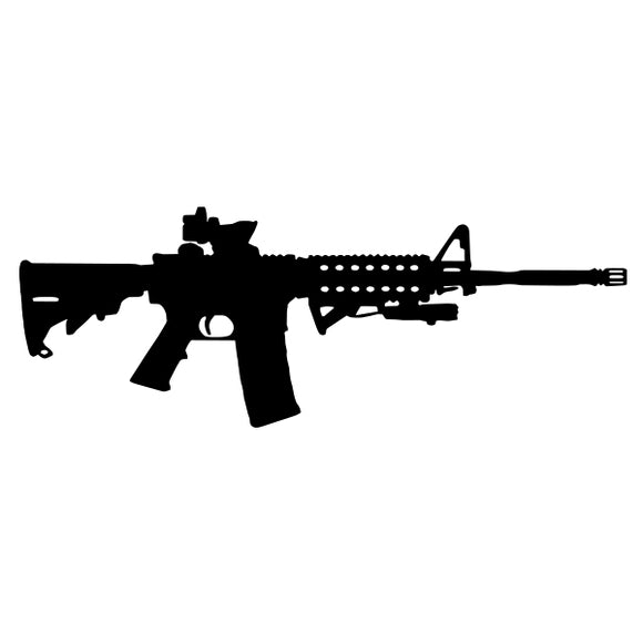 AR15 vinyl decal sticker for Car/Truck Window skate gun firearm tactical m16 mil