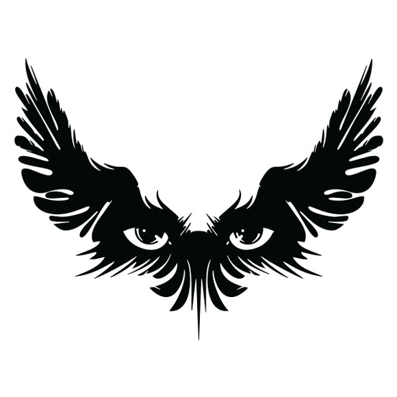Watcher vinyl decal sticker for Car/Truck Window tablet tribal Eyes Wing Raven