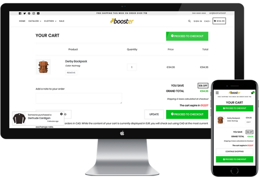 Booster-Theme-Cart-Page