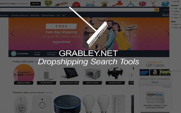 Grabley Dropshipping Search Tool