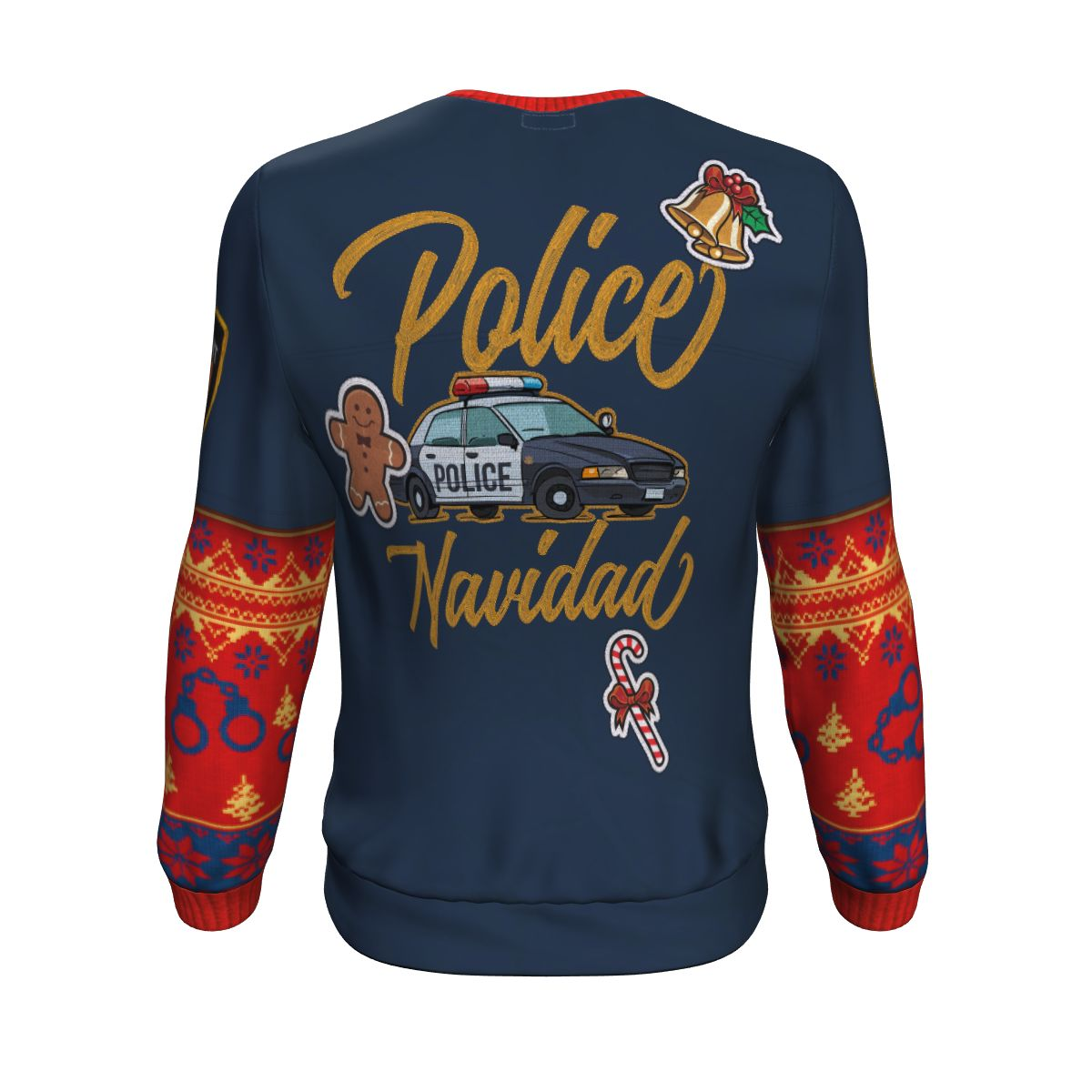 Police Navidad Christmas Sweatshirt All-Over Police Officer Gifts For Dad-XS-SpreadVera