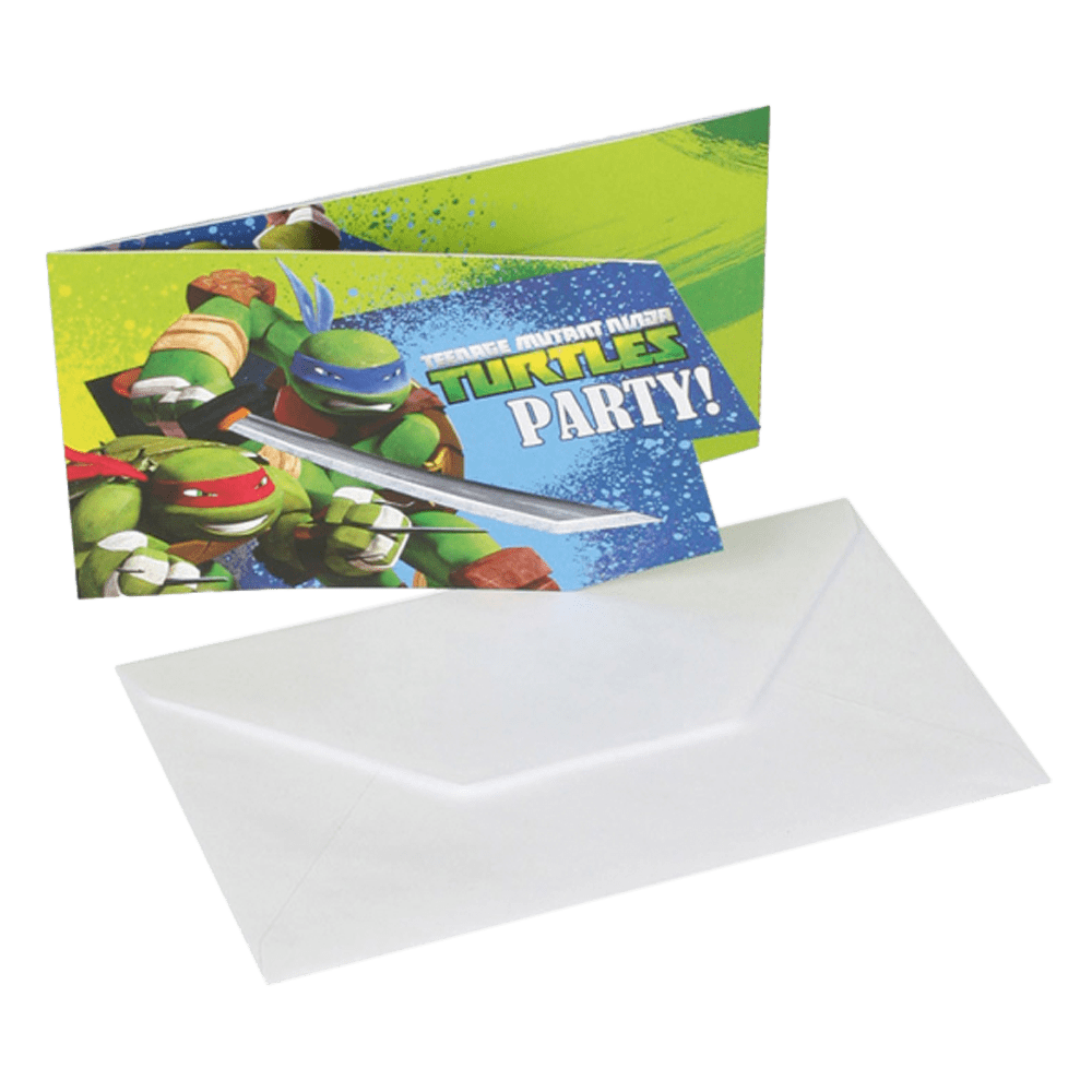 Invitationer Ninja Turtles