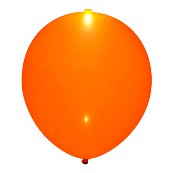 Orange LED ballon