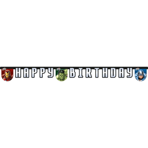 """Happy birthday"" banner med Avengers"