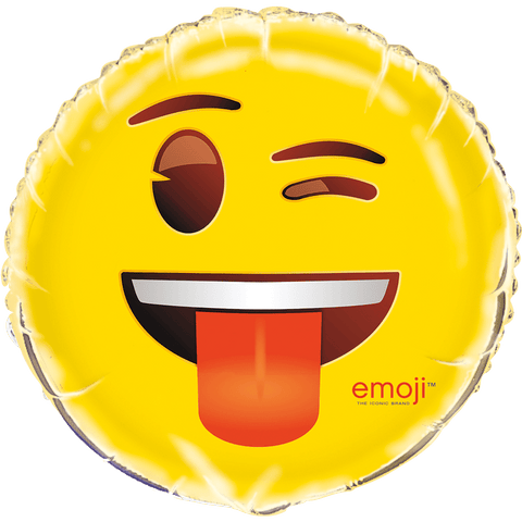 Blinkede emoji folieballon