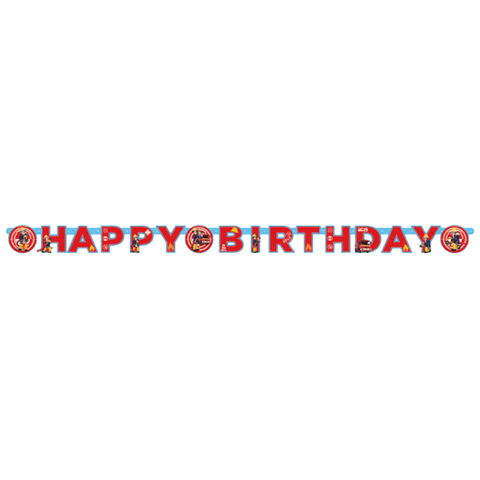 """Happy Birthday"" banner med brandmand Sam"