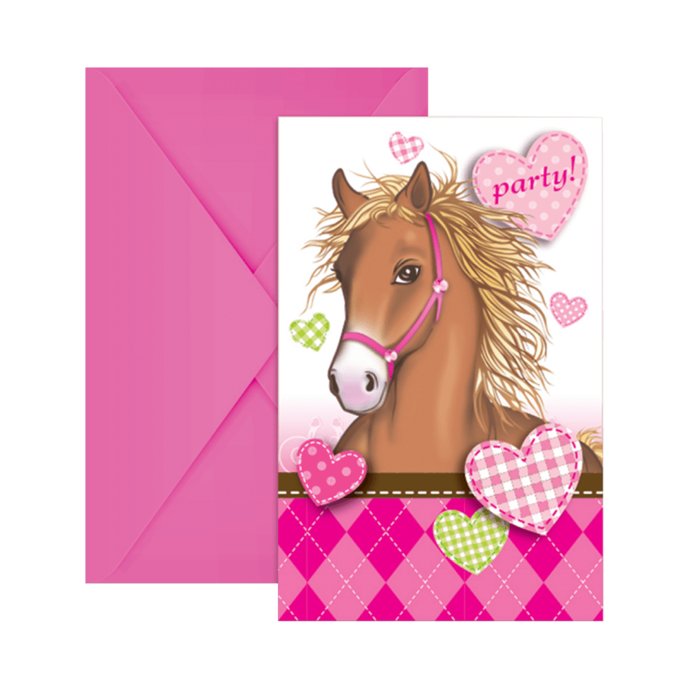 Lovely Horse invitation og kuvert