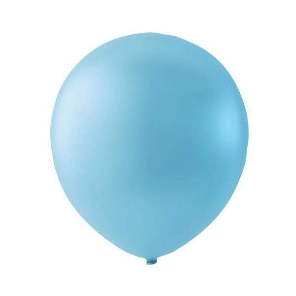 Lyseblå latexballon