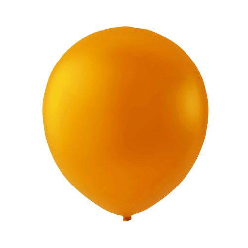 Orange Halloween latexballon