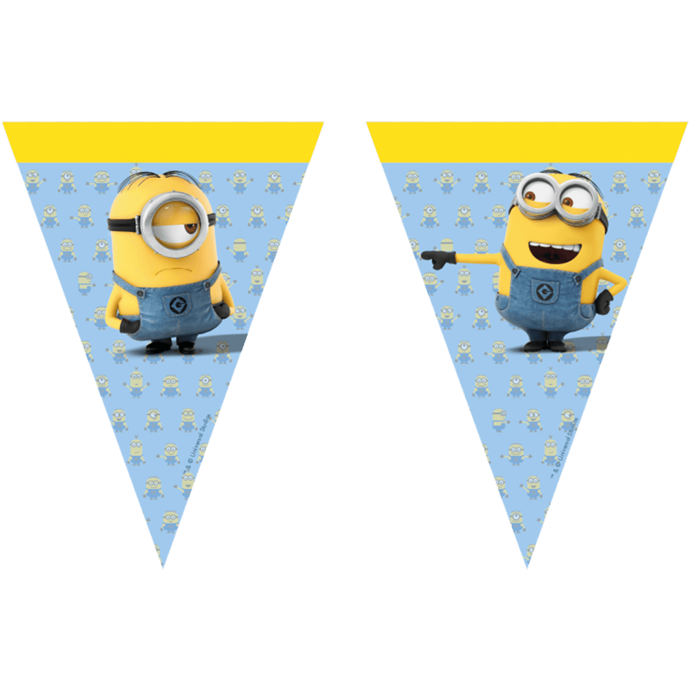 Minions flagbanner med 9 flag
