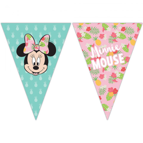 Flagbanner med Minnie Mouse
