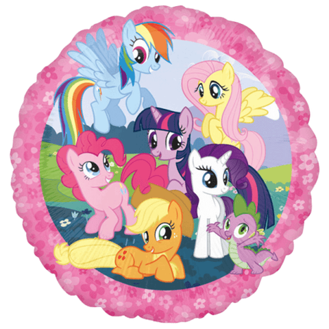Rund folieballon med My Little Pony