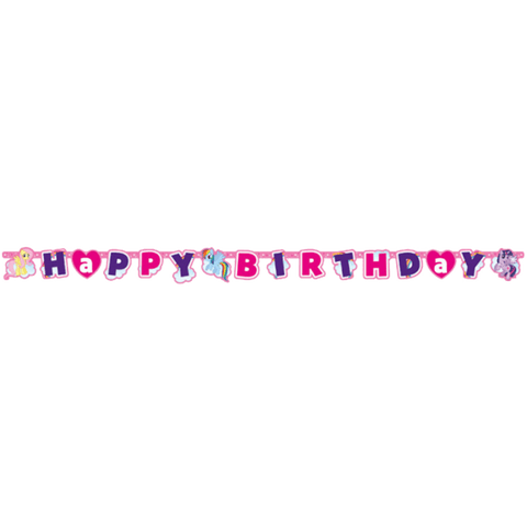 Happy Birthday banner med My Little Pony