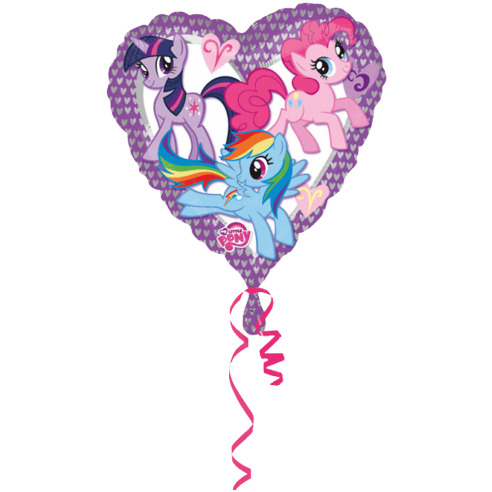 Hjerteformet folieballon med My Little Pony