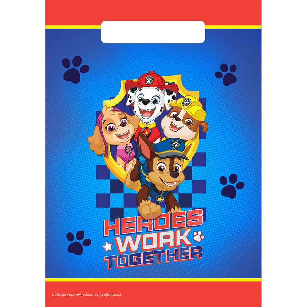 Paw patrol partybags